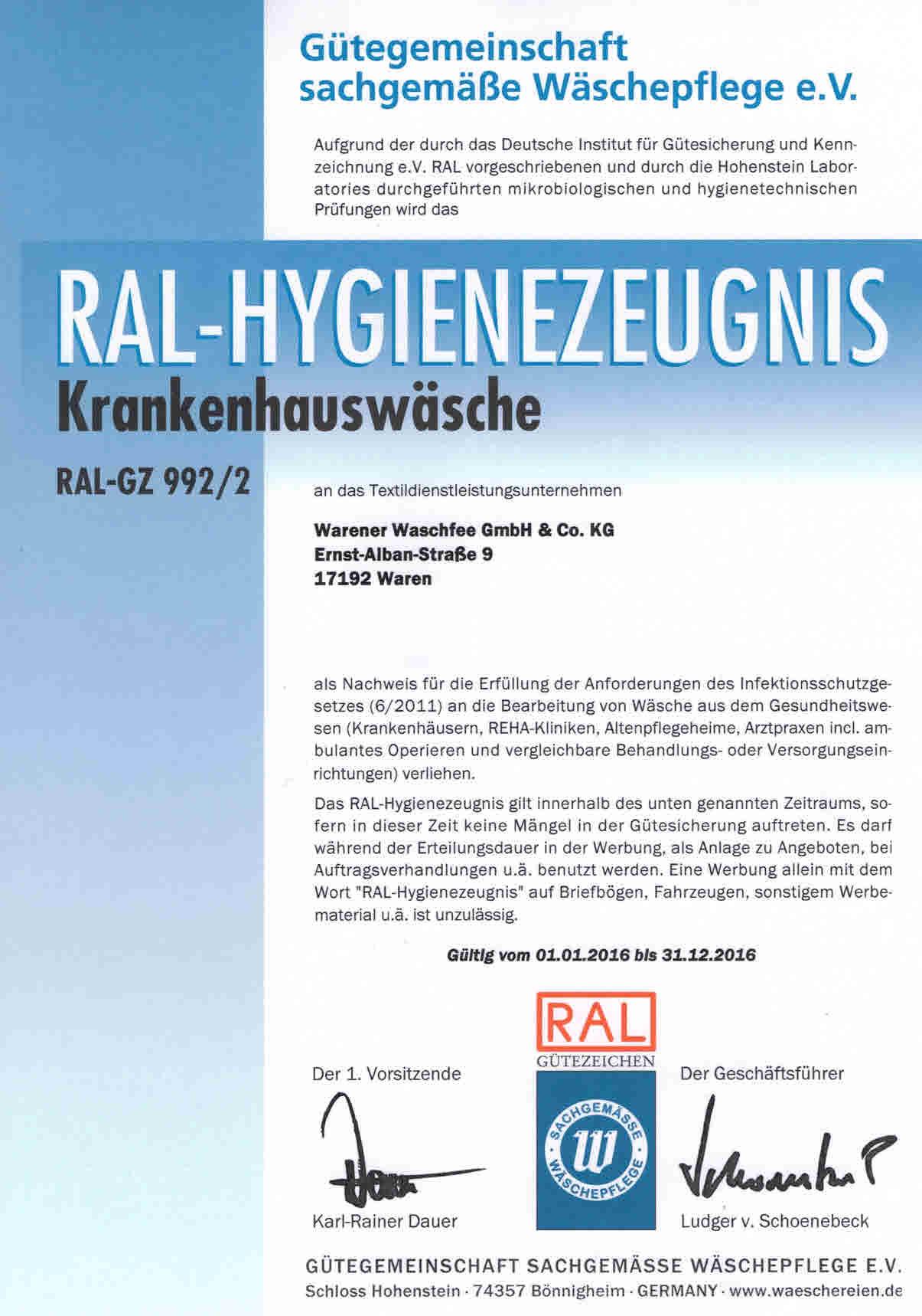 RAL-GZ_992-2_Krankenhauswaesche