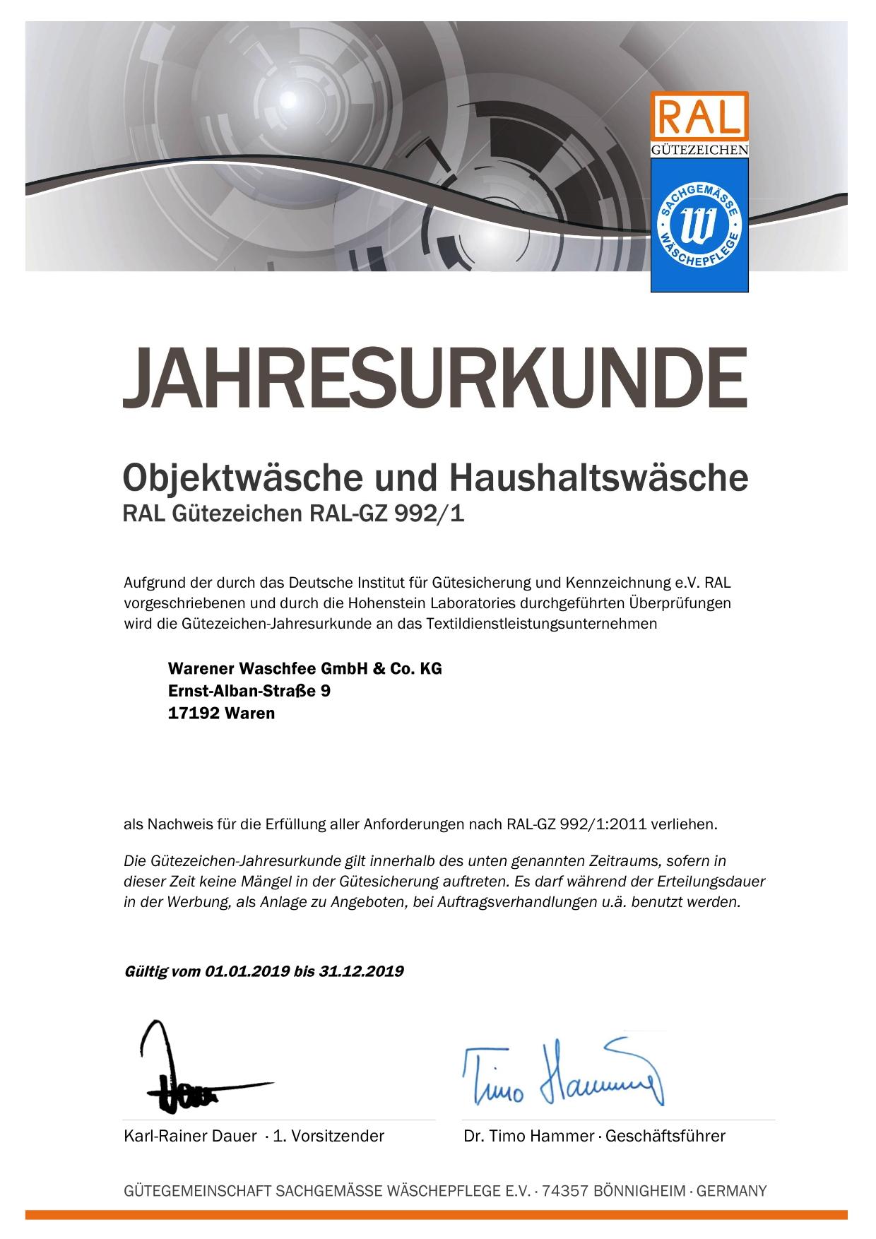 992-1 Jahresurkunde_20054_2019